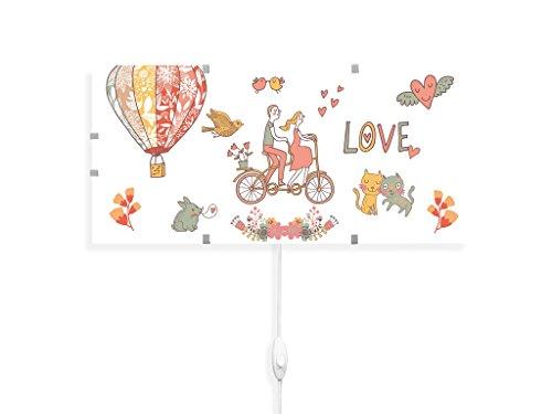 yourdea - Kinderzimmer Wechsel Bild für IKEA GYLLEN Wandleuchte 56cm mit Motiv: Love