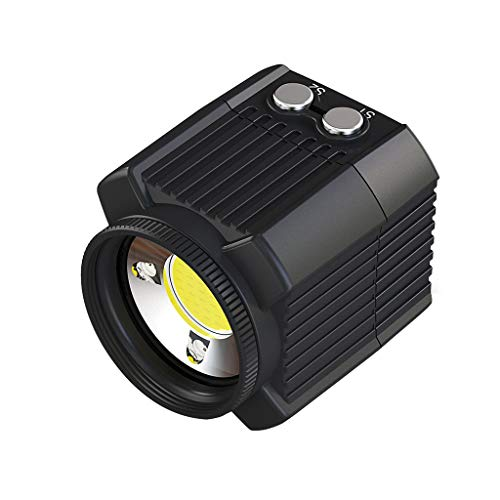 Semoic Flash De Camera sous-Marine Lampe De Remplissage Etanche A La Plongee, 60 M 2000Lm pour Heros 7 6 5 Cameras Video d'action Accessoires