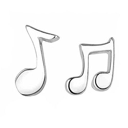 Süßer kleiner Musik Note 925Sterling Silber Ohrstecker für Frauen Mädchen Geburtstag Geschenke Musik Stil Ohrring