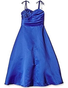 Satin Brautjungfern Anlässe Festkleid Mädchen Kleid
