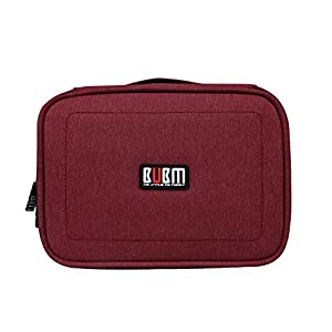 BUBM Gadget Organiser Case for Data Cables, Chargers, Plugs, Memory Cards, CF Cards Pen Drives and More--Compact, Well Made, Ideal Travel Bag