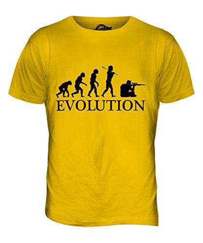 CandyMix Scharfschütze Evolution Des Menschen Herren T Shirt Dunkelgelb