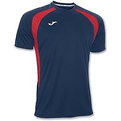 Joma 100014.306 - Camiseta de equipación de manga corta para hombre, color azul marino / rojo, talla L