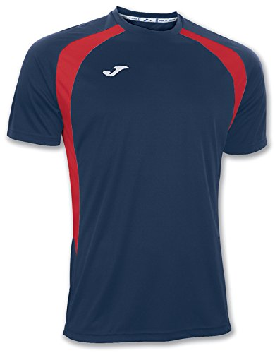 Joma 100014.306 - Camiseta de equipación de manga corta para hombre, color azul marino/rojo, talla L