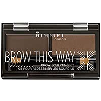 Rimmel London Brow This Way Brow Sculpting Kit Kit para Cejas Tono 3 - cera: 1,1g, polvo:1,3g