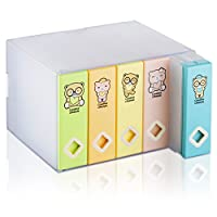 AhfuLife® Colorful Space-saving Album CD or DVD Storage Box Holds up to 120 disks
