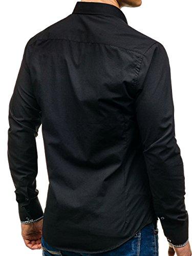BOLF - Chemise casual – Manches longues – élégant - BOLF 2939 - Homme Noir