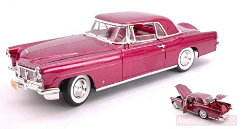 Lucky DIECAST LDC20078BG Lincoln Continental Mark II 1956 Burgundy METALLIC 1:18 kompatibel mit