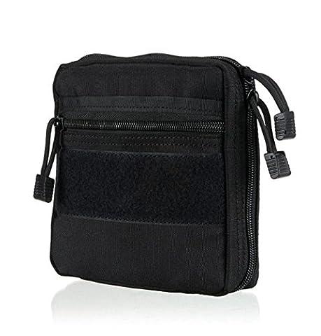 Outdoor Zubehör Paket Medical Bag Waschen Finishing Pack Tactical Rucksack Hanging Accessory Bag Multifunktionale Kit , Black