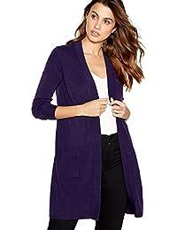 6e245db6042e7 Principles Womens Dark Purple Edge to Edge  Ultrasoft  Cardigan