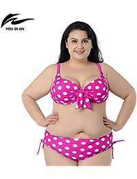 HITSAN INCORPORATION Plus Size Sweet 2XL to 6XL Fat Swimwear Swimsuit Women  Big Size hot Push up Plus Size Bikini Large Size Bikinis Set… 688fb36bdacd