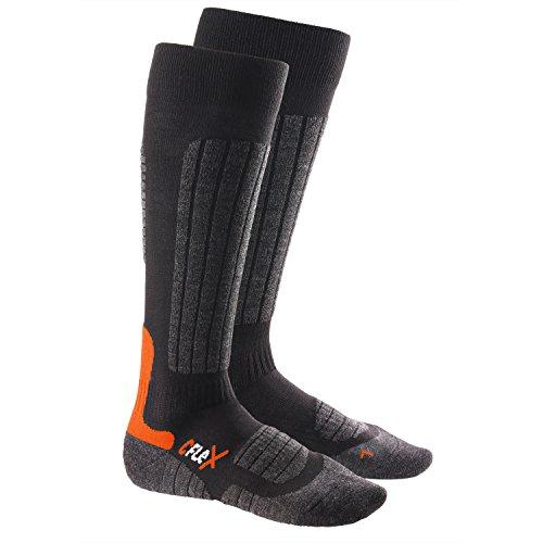 1 Paar CFLEX HIGH PERFORMANCE Ski- und Snowboard Socken Schwarz/Orange-39-42
