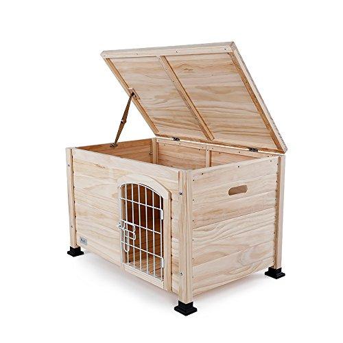 Petsfit fertig zusammengebaute Hundehütte aus Holz für kleine Hunde, 78.5cm x 51cm x 51cm, 1 Jahr Garantie (Indoor-hundehütte Für Mittelgroße Hunde)