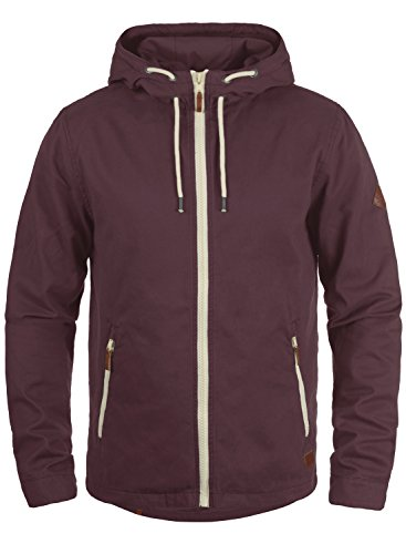 Blend Bobby Herren Übergangsjacke Herrenjacke Jacke mit Kapuze aus 100% Baumwolle, Größe:S, Farbe:Wine Red (73812)