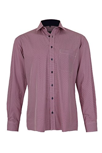 ETERNA long sleeve Shirt COMFORT FIT Poplin printed Rosa