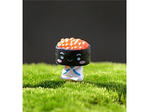 Yter Decorazioni da giardino in miniatura Fairy Garden Ornamente Miniatur Sushi Baby Bonsai...