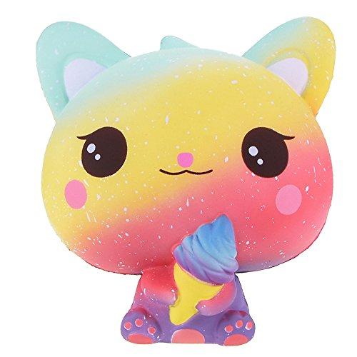 Vlampo jumbo squishies lento alzarsi gelato decorazione decorazione squishy kawaii giocattoli antistress da 5.9 '' (arcobaleno)