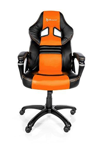 41bQNxc5QqL - Arozzi Monza Orange - Silla (Negro, 150 kg, 125 cm, 115 cm, 53 cm, 51 cm)