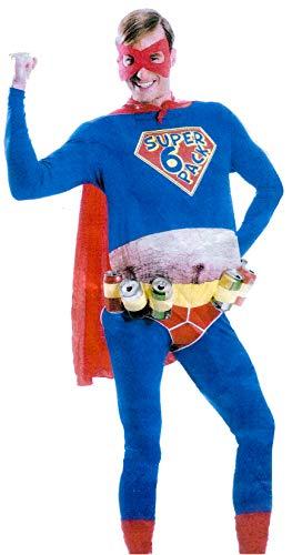 Superheld Kostüm Lustiger - Brandsseller Herren Kostüm Lustiger Superheld Karneval Party Junggesellenabschied Verkleidung One Size/Einheitsgröße Blau