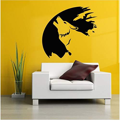 Wandtattoo Wolverine Schlafzimmer Dekorieren Wand Vinyl Wohnkultur Wandaufkleber Jungenzimmer Kindergarten Tier Muster Abnehmbar 57x60cm (Wandtattoo Wolverine)