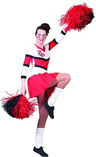 Faschingsfete Cheerleader Kostüm für Frauen, S, -