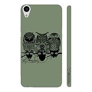 HTC Desire 728 Dual SIM FOUL OWL designer mobile hard shell case by Enthopia