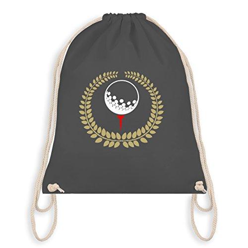 Shirtracer Golf - Lorbeerkanz Golfball Golf-Tee - Unisize - Dunkelgrau - WM110 - Turnbeutel & Gym Bag