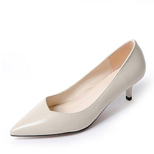 Asakuchi chaussures à pointes à l'automne/ talons verre de talons aiguilles/Chaussures de travail A