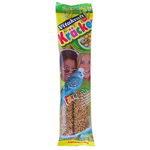 Vitakraft Kracker Budgie Treat Sticks with Honey and Sesame 2pk