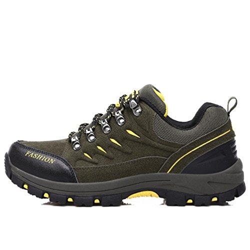 Dexuntong Unisex Erwachsene TrekkingschuheWasserdichte Wanderschuhe Hiking Sneaker Rutschfest Arbeitsschuhe für Herren Damen39-44 F1lQhR