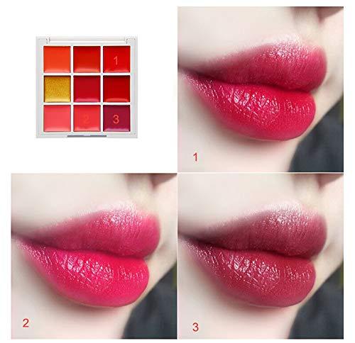 friendGG New Beauty Make Up Feuchtigkeitscreme Lipgloss Kosmetik Set Jiugongge Lippe Und Wange...