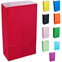 Thepaperbagstore 15 RED (TM) PAPER PARTY BAGS - CHOOSE YOUR COLOUR