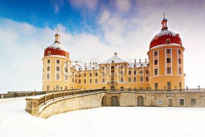 "Leinwand-Bild 120 x 80 cm: ""Schloss Moritzburg im Winter"", Bild auf Leinwand"