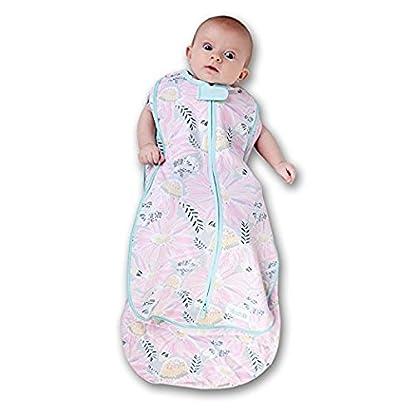 41bQRNK9W4L. SS416  - Woombie Grow With Me Swaddle - Saco de dormir para recién nacido de 5 etapas a 18 meses de 0 a 18 meses, diseño de flores silvestres