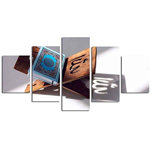 LUFA 5-Panel-Spray Koran Druck Malerei Zeichnung Wohn Wand-Dekor-Kunst-Ölgemälde Unframed Foto Bunte Bilder