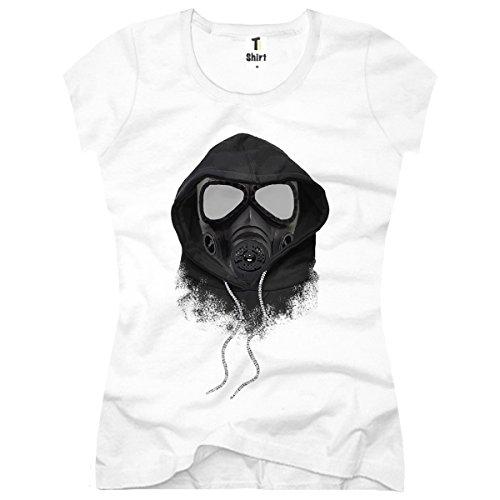 TEE-Shirt,Women T-Shirt Gas-Maske Size XS,Weiß