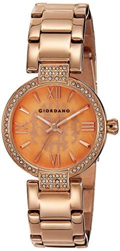 Giordano Analog Rose Gold Dial Women's Watch-2777-33