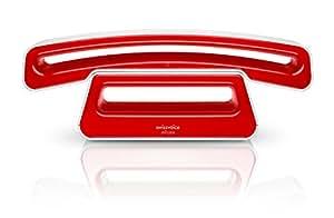swissvoice epure 2 blanc et rouge t l phone dect amazon. Black Bedroom Furniture Sets. Home Design Ideas