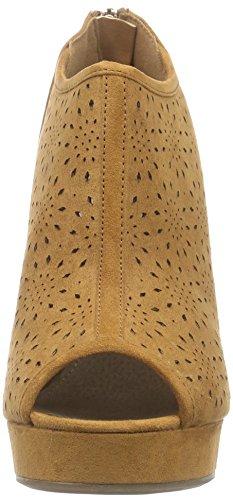 XTI - 30080, Sandali punta aperta Donna Marrone (Braun (Camel))