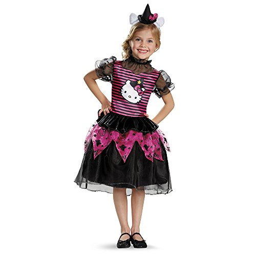Disguise 88672L Hello Kitty Witch Classic Costume, Small (4-6x) by - Classic Hello Kitty Kostüm