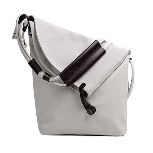 SSMK  Messenger Shoulder Bag, Borsa Messenger  Donna Bianco
