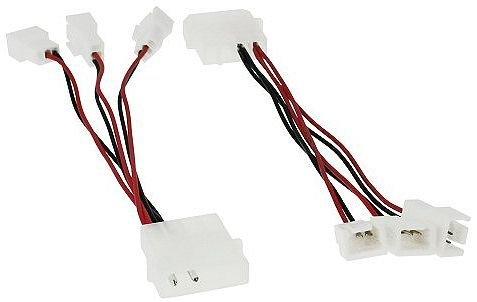 Adapter Lüfter-Stromanschluss 12 Volt 4-Pol-Molex auf 3x 5 Volt 3-Pol-Molex
