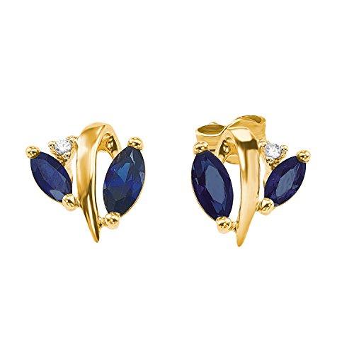 amor Damen-Ohrringe im floral Design aus Gold 375