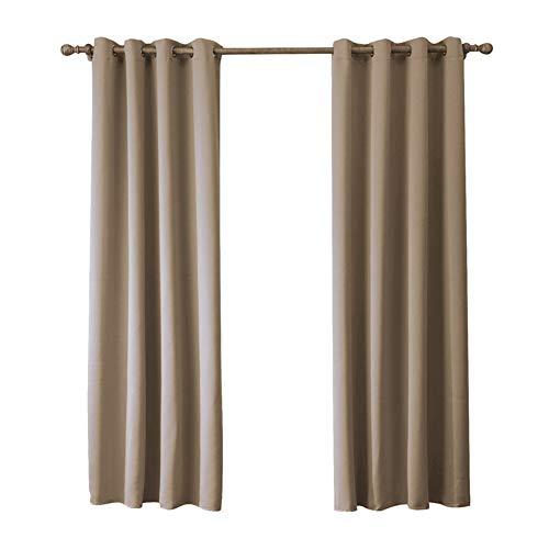 By-gg Vorhänge 2 Stücke Einfarbig Schatten Tuch Wohnzimmer Schlafzimmer Perforierte Vorhang 70% -90% Hohe Schattierung,140X240cm - Datenschutz-boden-bildschirm