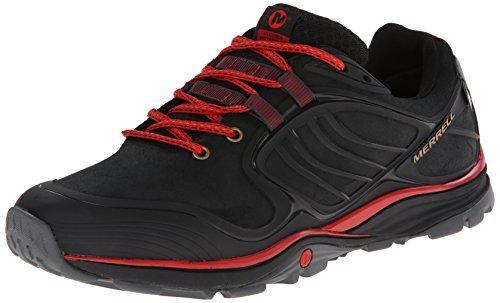 Merrell Verterra Waterproof, Chaussures de randonnée montantes homme Noir (Black Red)