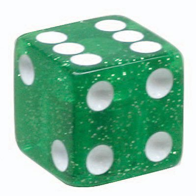Trick Tops Würfel, Unisex, 95389, Glitter Green