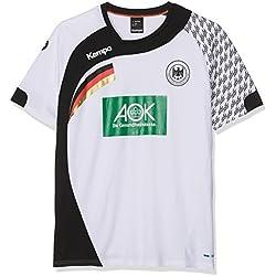 Kempa DHB Home Camiseta de Juego, Hombre, Blanco / Negro, L
