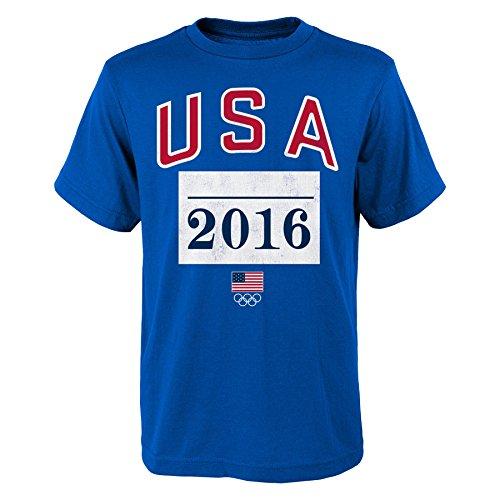 Olympische Geschichte USA Herren USA Marathoner Tee, Herren, königsblau, X-Large