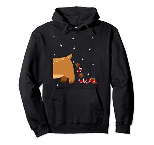 Lustiges Weihnachts Rentier Partnerlook Weihnachten Rentier Pullover Hoodie