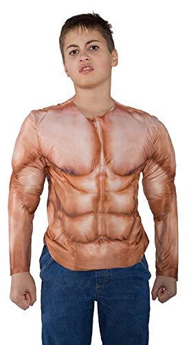 Muskel Shirt Kostüm Kinder - Underwraps - Muskel Shirt Top für Kinder Größe 122-134 26172